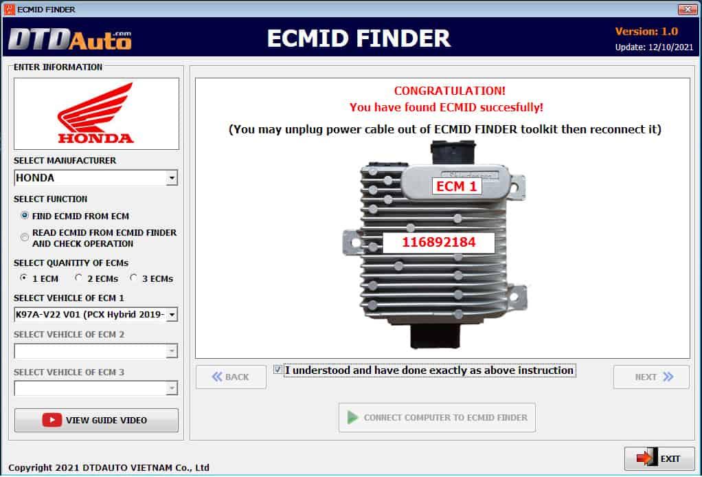 ecm id finder